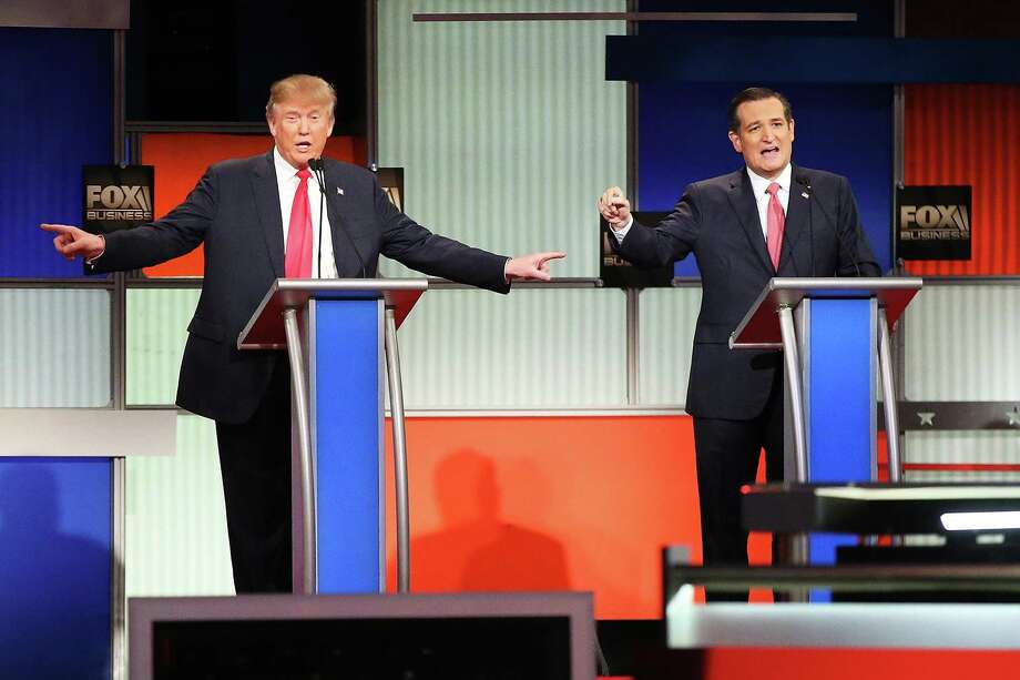 "Donald Trump and Ted Cruz:  Cruz says Trump is ""calling for grown men to be allowed to use little girls' public restrooms."" Yes, really. 