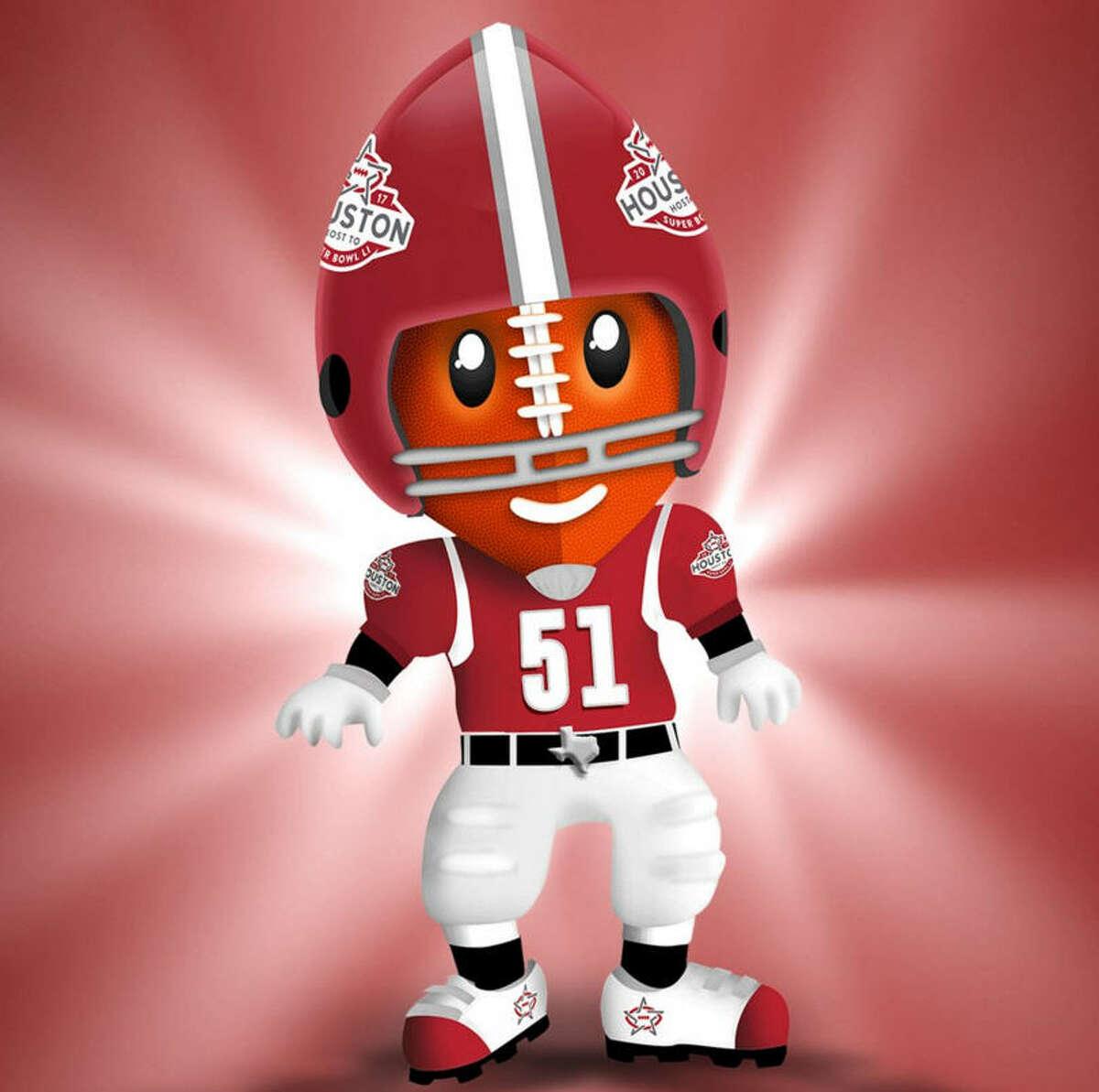 Meet TD - Houston Super Bowl mascot.