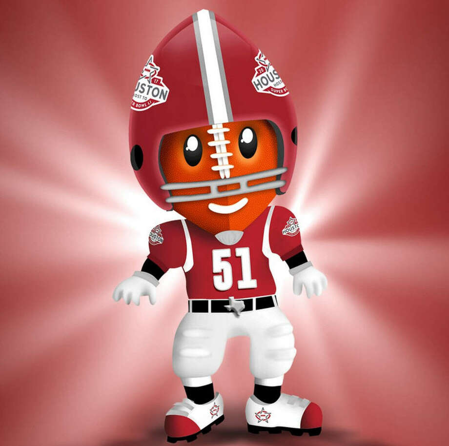 Meet TD - Houston Super Bowl mascot. Photo: Houston Super Bowl Host Committee