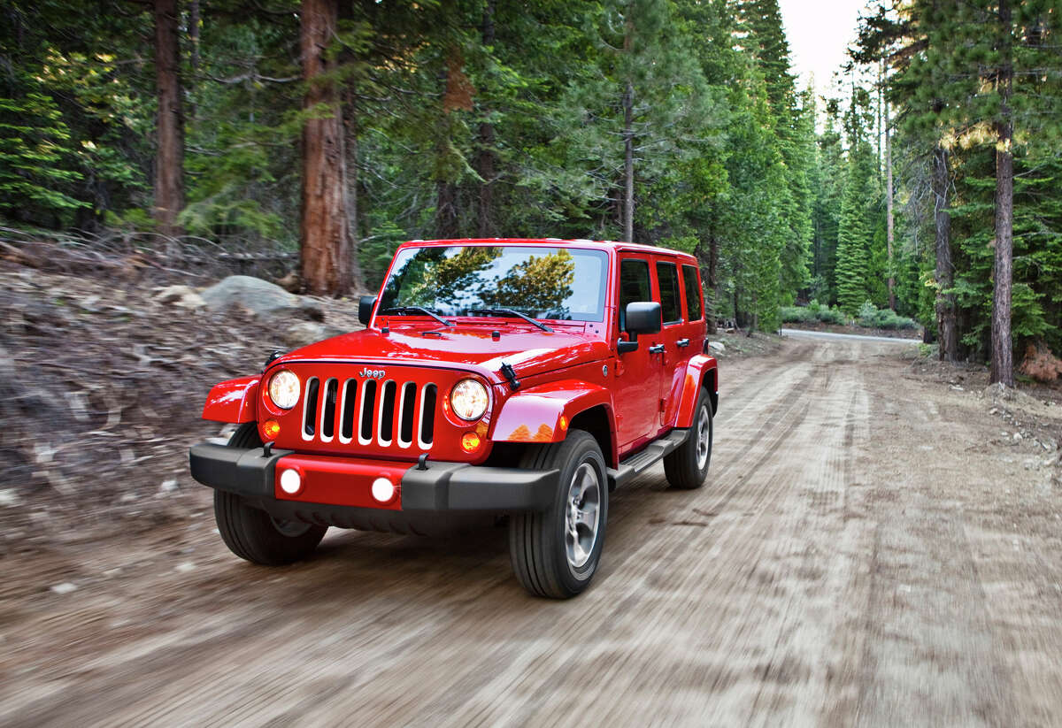 ABOVE AVERAGE: The Jeep Wrangler Unlimited loses 28.1 percent of its value after five years of ownership, according to iSeeCars.
