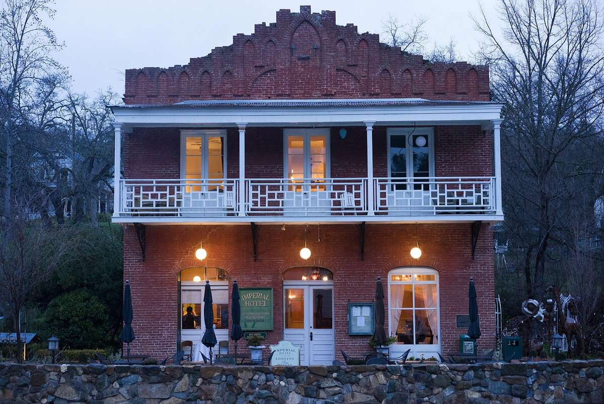 The exterior of the Imperial Hotel is seen in Amador City, Calif on Thursday, Jan. 14, 2016. The Imperial Hotel has undergone renovations that have added a touch of modernity to this otherwise old-fashioned building
