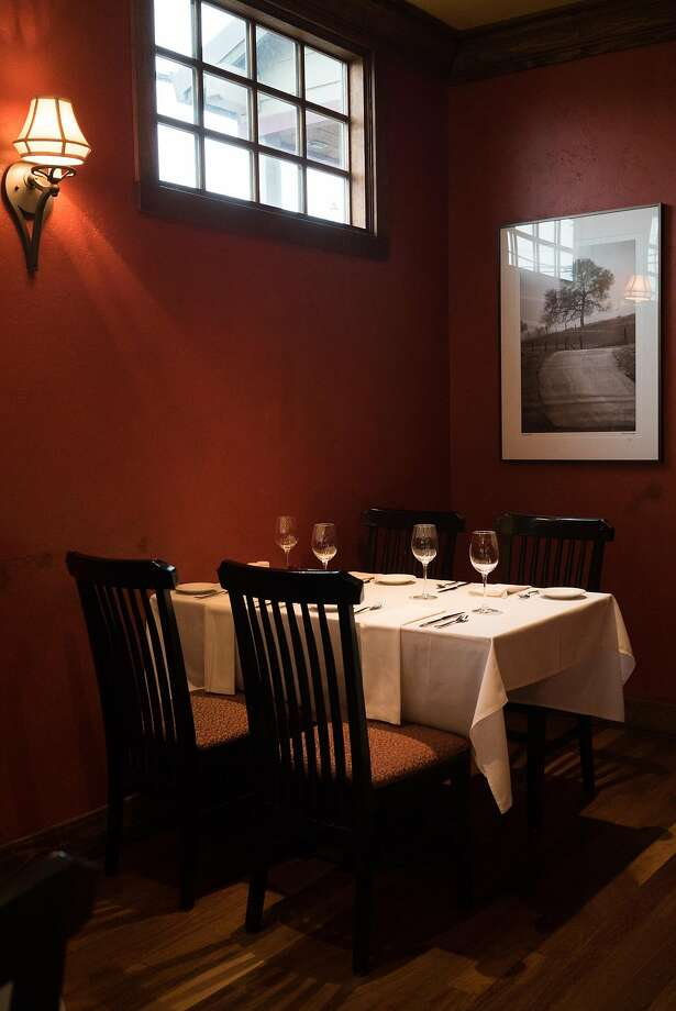 The dining room of the James Beard-award winning Taste Restaurant in Plymouth. Photo: James Tensuan