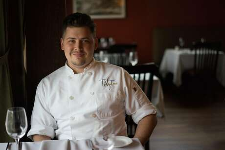 Micah Malcolm is the chef at the Plymouth restaurant. Photo: James Tensuan