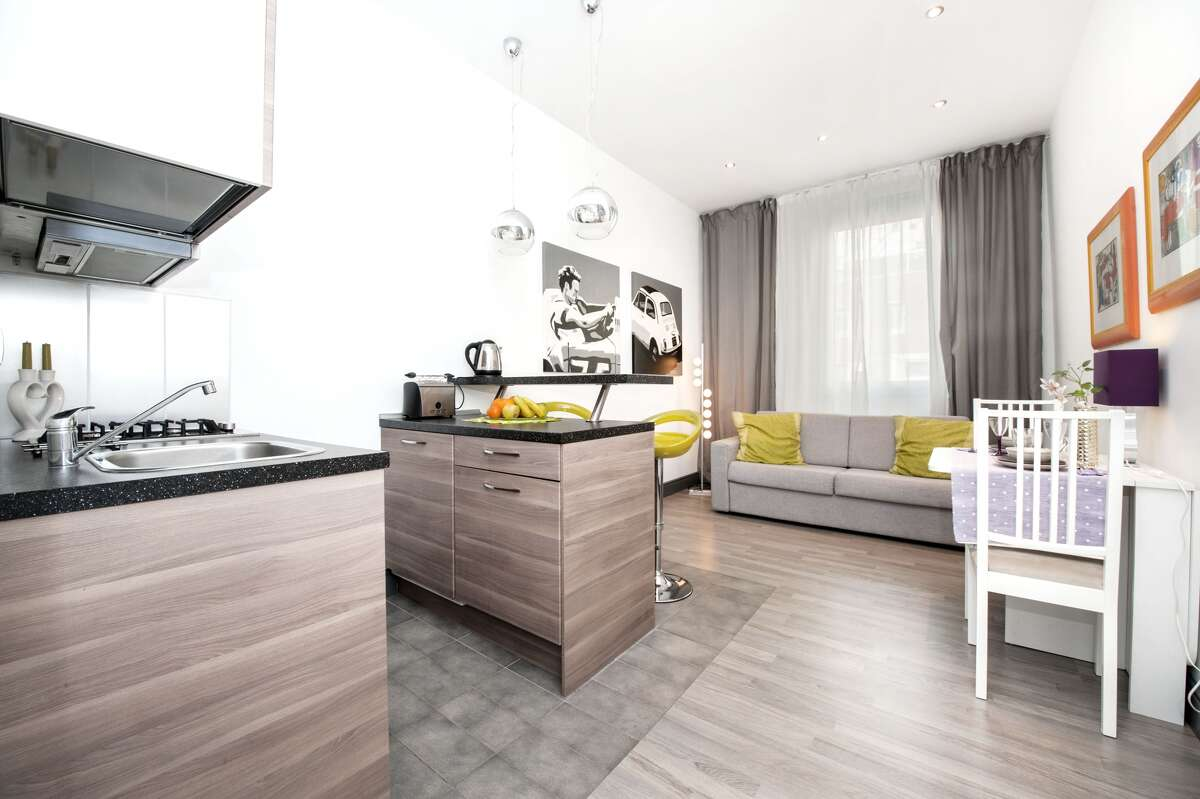 #9: The modern Roman Mini Loft, a tiny and inexpensive rental option in the heart of the historic area of Saint John (for only $41/night!), is close to the Colosseum, the Basilica of St. John, the Lateran Palace, the Scala Santa, and more major Italian points of interest.