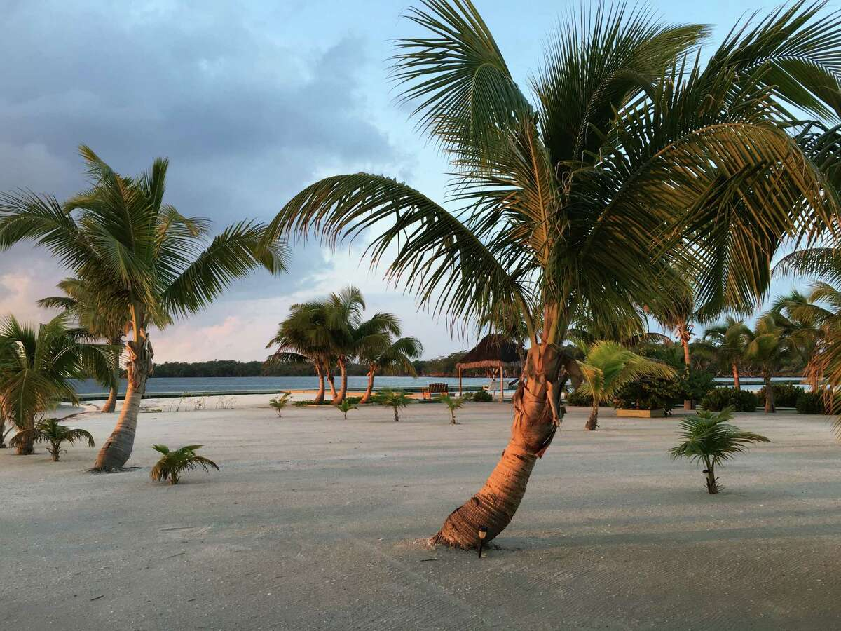 The white-sand beaches at Turneffe Island Resort are lined with impeccably maintained palm trees, hibiscus and plumeria, and they were almost always quiet and peaceful.