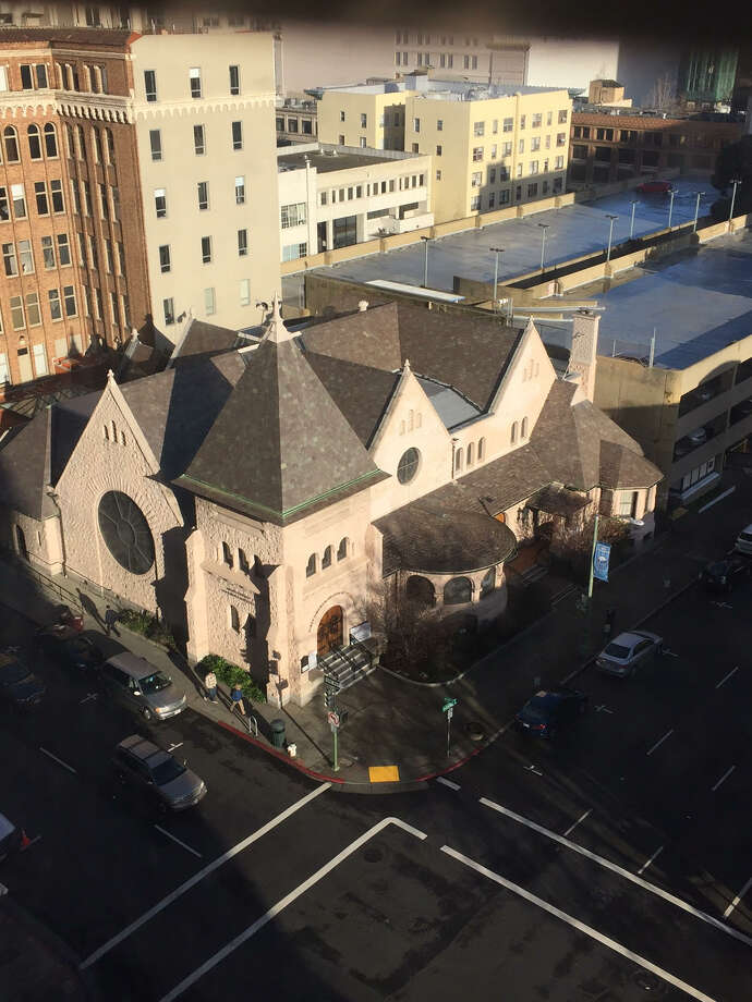 Jeremy's founder Jeremy Kidson purchased the First Church of Christ Scientist Oakland for $2.6 million to house his retail store selling designer clothing at deep discounts. Photo: SFGate