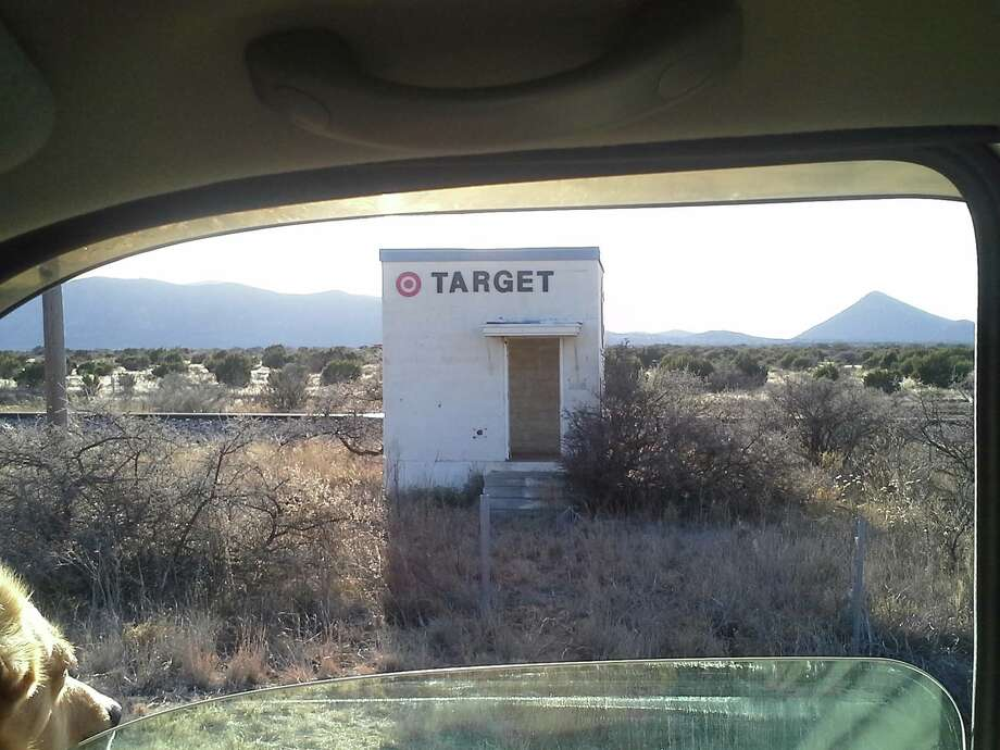 "This ""Target"" in Marathon, Texas, is one of several quirky landmarks in Texas. Click to the slideshow to see more."