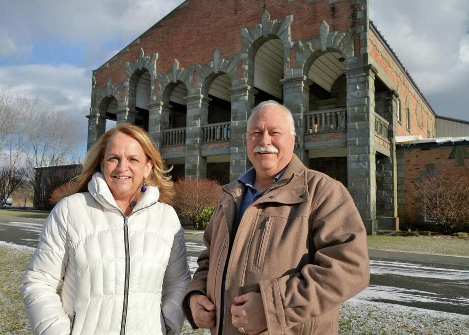 Co-pastors Meredith and Steve Giles outside their Mt. Moriah Church Wednesday Jan. 13, 2016 in Glenmont, NY.  (John Carl D'Annibale / Times Union) Photo: John Carl D'Annibale / 10034978A