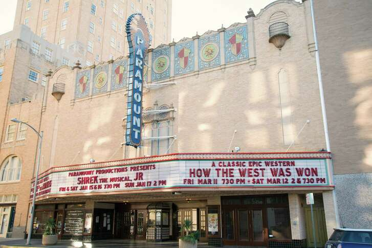 Abilene's Paramount Theatre is an old fashioned, ornate movie palace with gilded moldings, domed ceiling and velvet seats.
