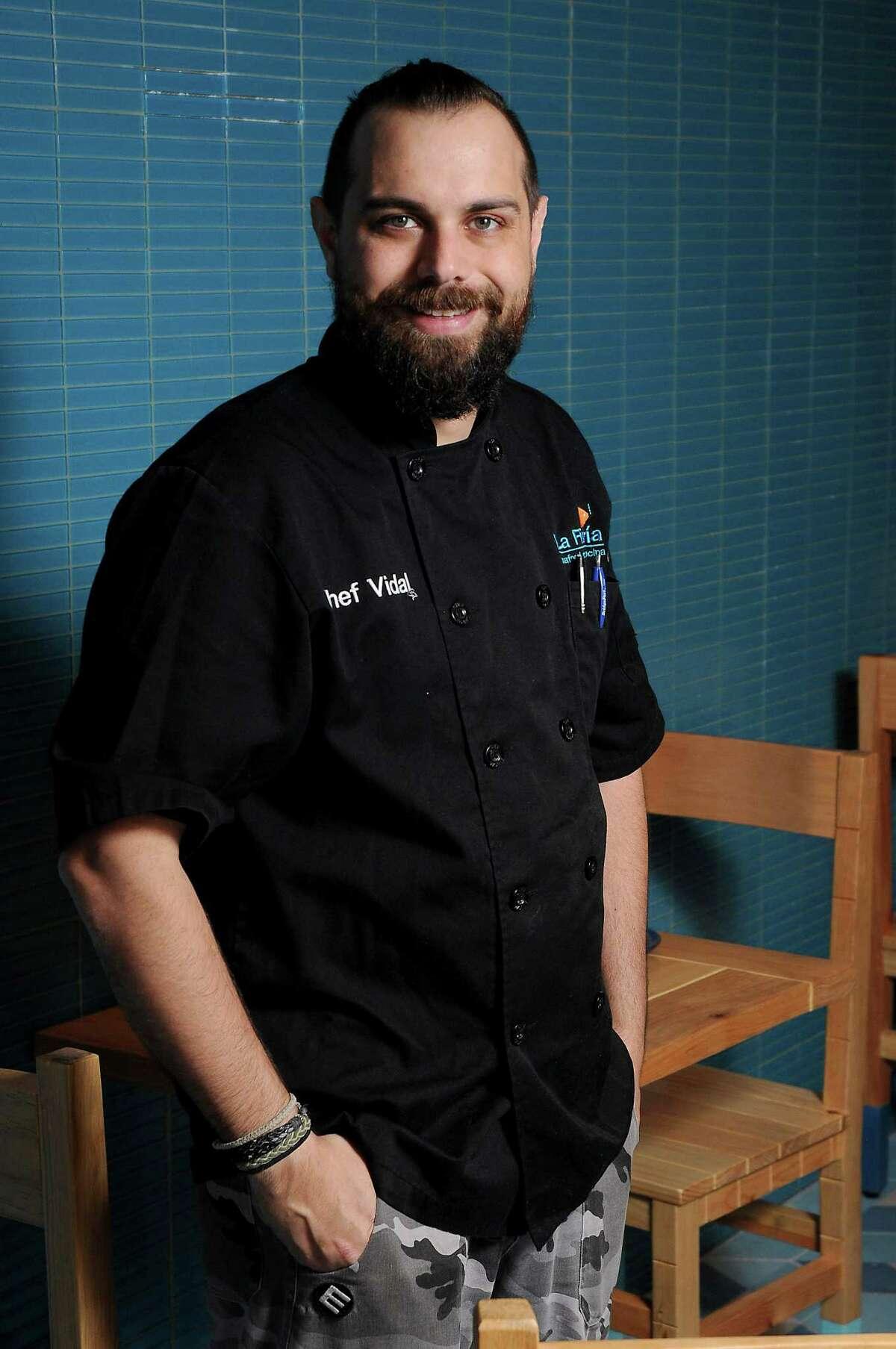 Chef Vidal Elias at the new La Fisheria at 213 Milam Thursday Jan. 14, 2016.(Dave Rossman photo)
