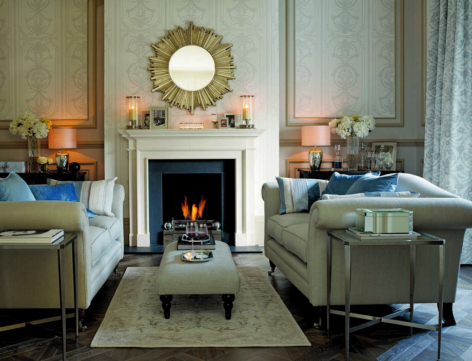 Downton Abbey Set Inspires Fabrics Wallpapers Houston Chronicle - Laura ashley grey living room