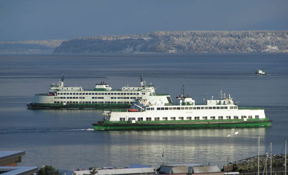 """WSDOT Ferries Division's Evergreen State vessel (foreground) and Chelan (background) on the Edmonds/Kingston route."" -Washington State Ferries. Photo courtesy WSDOT. Photo: Courtesy WSDOT"