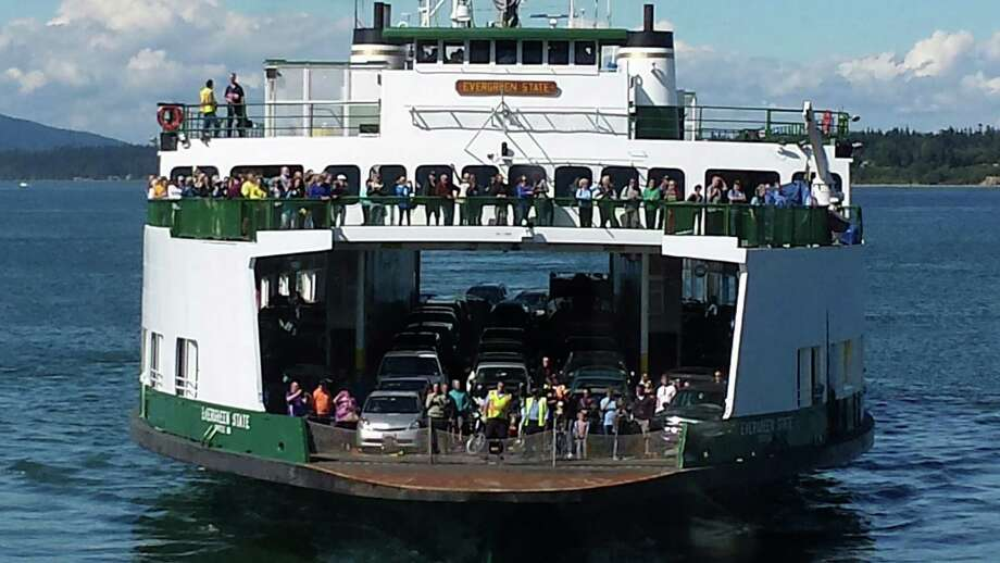 """June 29, 2014 - Here's a photo of the Evergreen State as she makes her final sailing as the interisland ferry. She began her San Juan Island ferry career in 1959. In July 2014, WSF transitioned the vessel to serve on a limited basis as a standby ferry."" -Washington State Ferries. Photo courtesy WSDOT. Photo: Courtesy WSDOT"