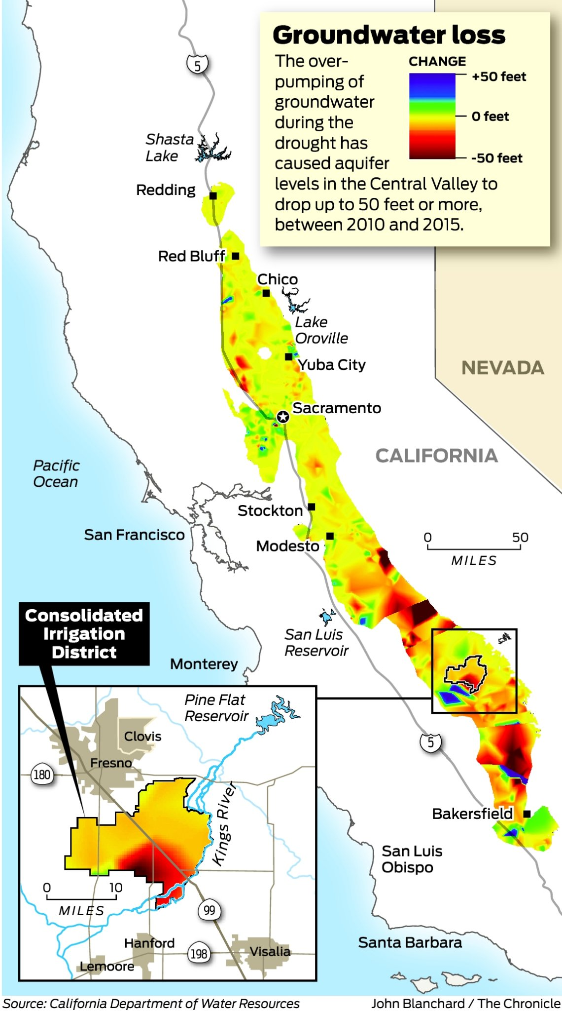 Amid El Niño, a push to save California's drought-drained aquifers California Irrigation Districts Map on
