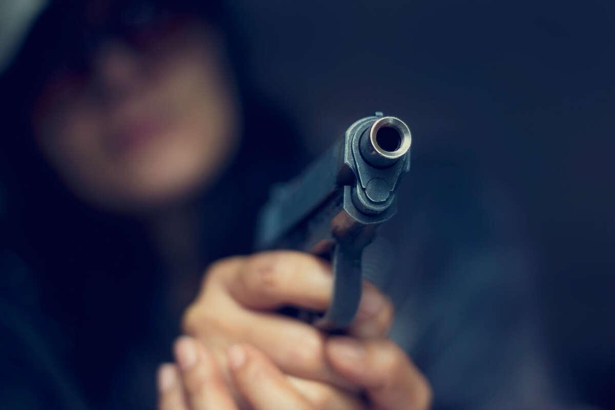 Stock art of a handgun.
