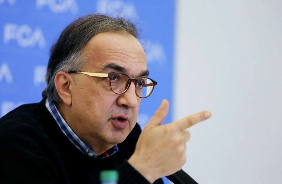 """Fiat Chrysler Automobiles CEO Sergio Marchionne addresses the media at the North American International Auto Show. """"Don't underestimate what happened today,"""" said Marchionne, who added that he thinks the agreement will make a huge change. Photo: Carlos Osorio /Associated Press / AP"""