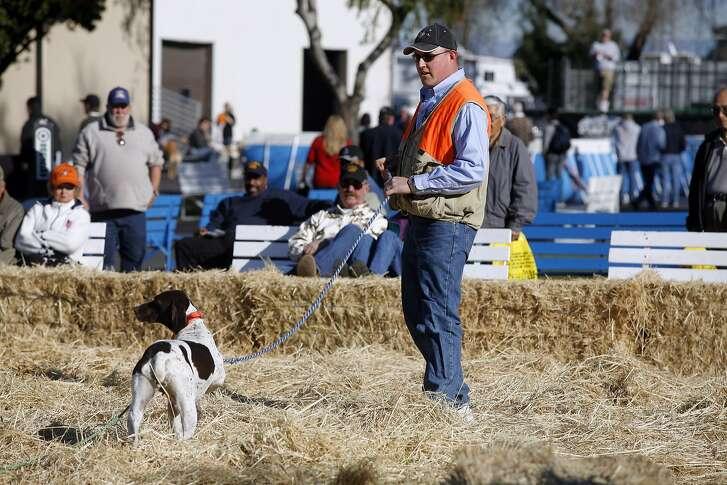 Dog retrieval demos at the International Sportsmen's Expo Bay Area.  courtesy of International Sportsmen's Expo.