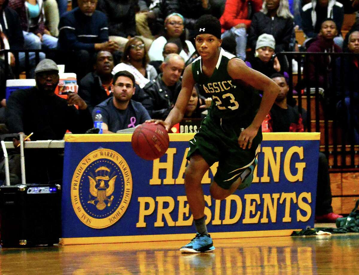Bassick and Harding were scheduled to meet twice in the regular season, and there's every reason to believe the Bridgeport rivals could play for a third time at some point in the Constitution State Conference tournament. Round One went to the Lions in Jan. 2016. With a big assist from one of its newcomers, Bassick took command early and sprinted past the Presidents, 84-71, at Harding-Miska Gym. Read more.