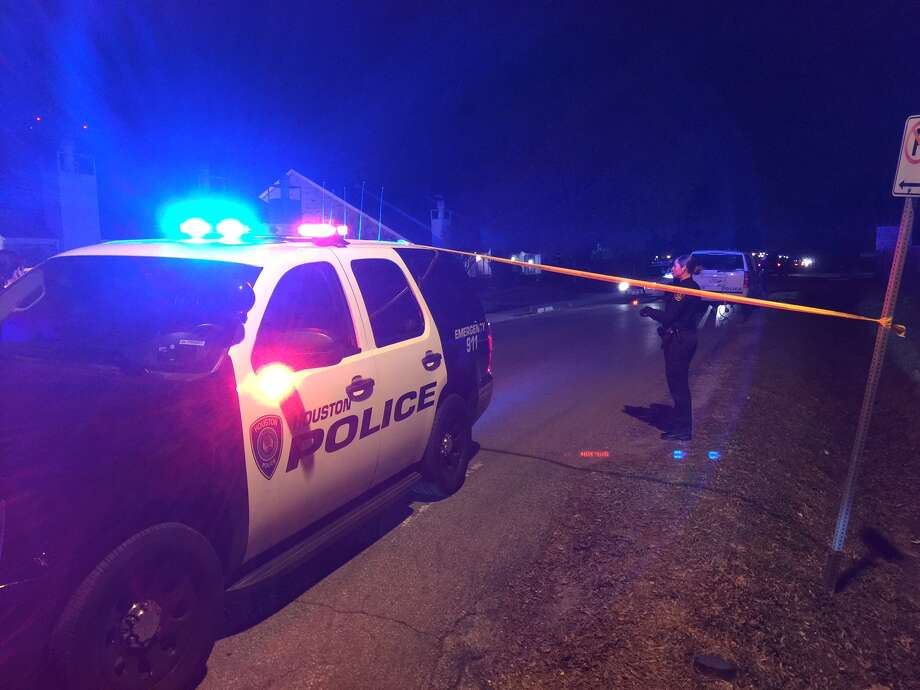 A 16-year-old was shot four times in the 6200 block of Beverlyhill near Greenridge on Friday. Photo: Mike Glenn, Chronicle