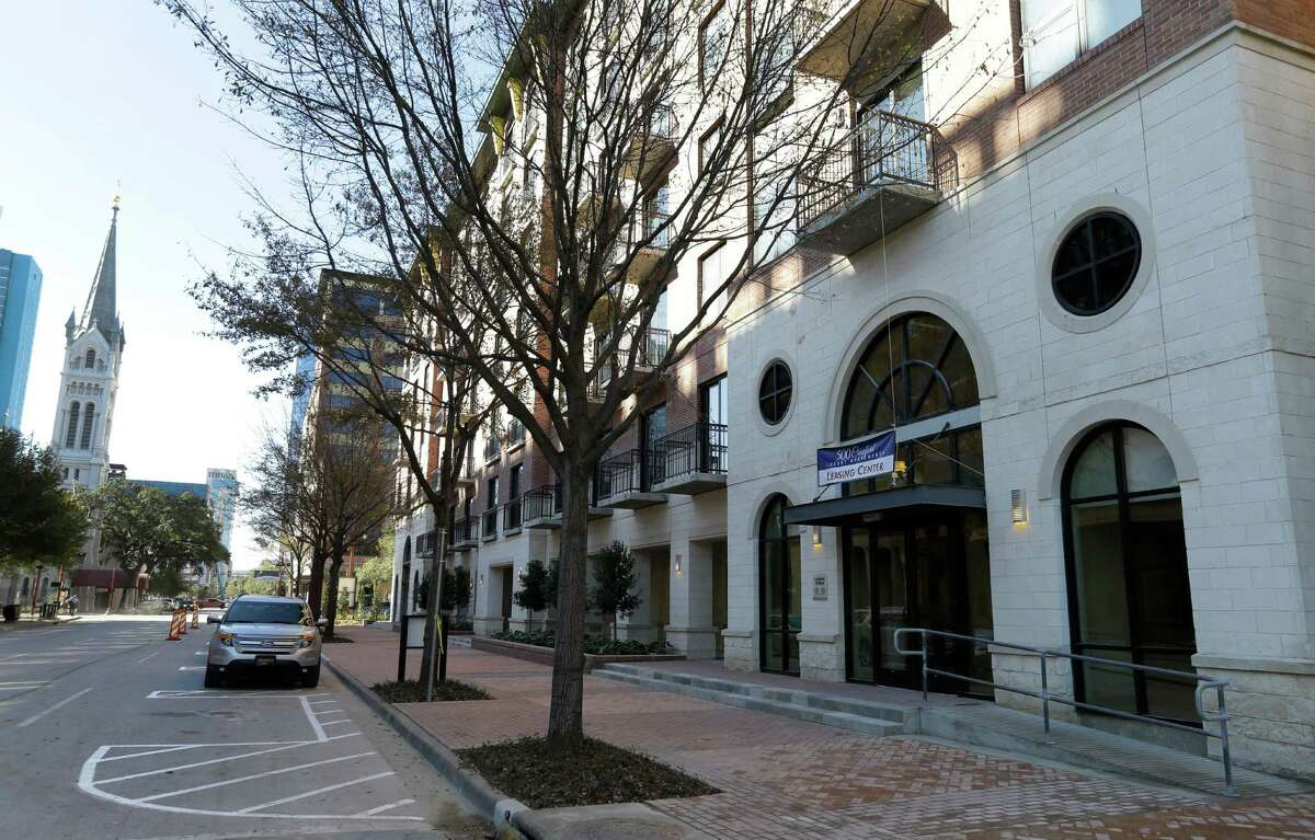 The 500 Crawford apartment complex across from Minute Maid Park is a seven-story, 400-unit property.