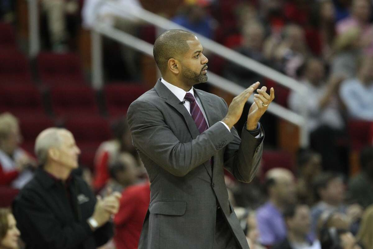 Houston Rockets head coach J.B. Bickerstaff during the first quarter against the Cleveland Cavaliers at the Toyota Center Friday, Jan. 15, 2016, in Houston. ( Gary Coronado / Houston Chronicle )