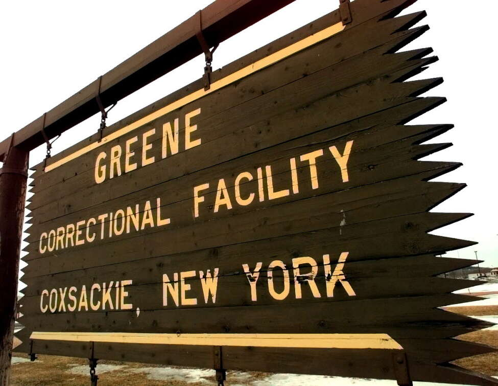 A prisoner at the Greene Correctional Facility died on Monday and his family says the state is giving them few answers about his death. Times Union staff photo by Cindy Schultz -- A view of the sign at Coxsackie Greene Correctional Facility on Saturday, Feb. 26, 2000, in Coxsackie, NY.