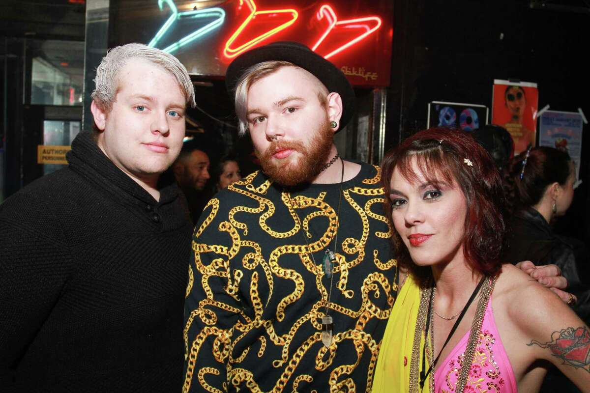 """The turnout at Numbers nightclub in Montrose which honored David Bowie with a Friday night tribute. The club turned its regular Classic Numbers night into a """"David Bowie-inspired"""" event. (For the Chronicle/Gary Fountain, January 15, 2016)"""