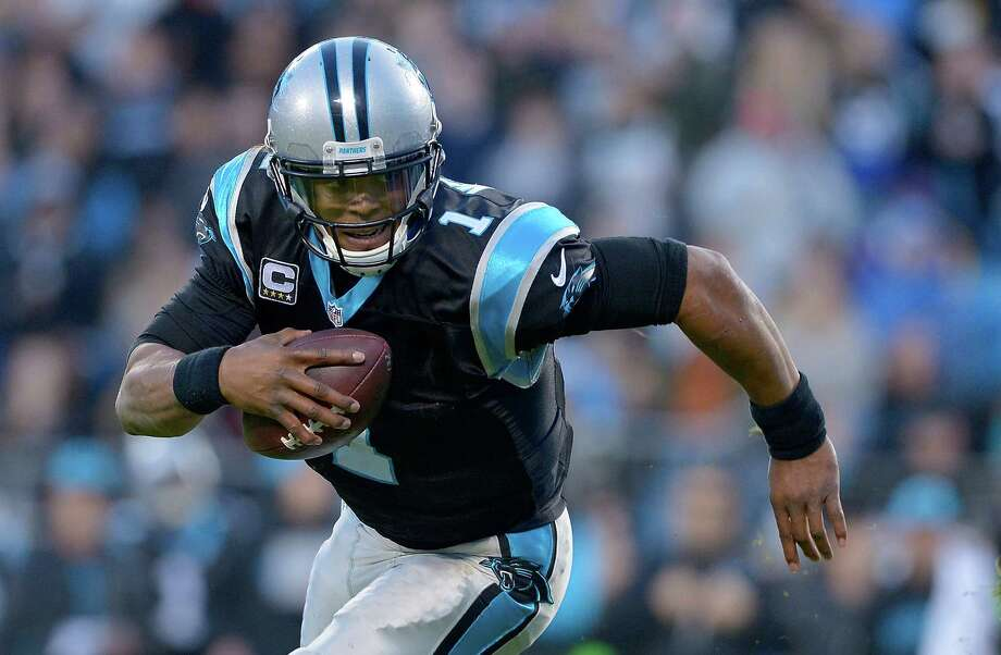 CHARLOTTE, NC - JANUARY 03:  Cam Newton #1 of the Carolina Panthers scrambles from the Tampa Bay Buccaneers in the 2nd quarter during their game at Bank of America Stadium on January 3, 2016 in Charlotte, North Carolina.  (Photo by Grant Halverson/Getty Images) ORG XMIT: 587495605 Photo: Grant Halverson / 2016 Getty Images