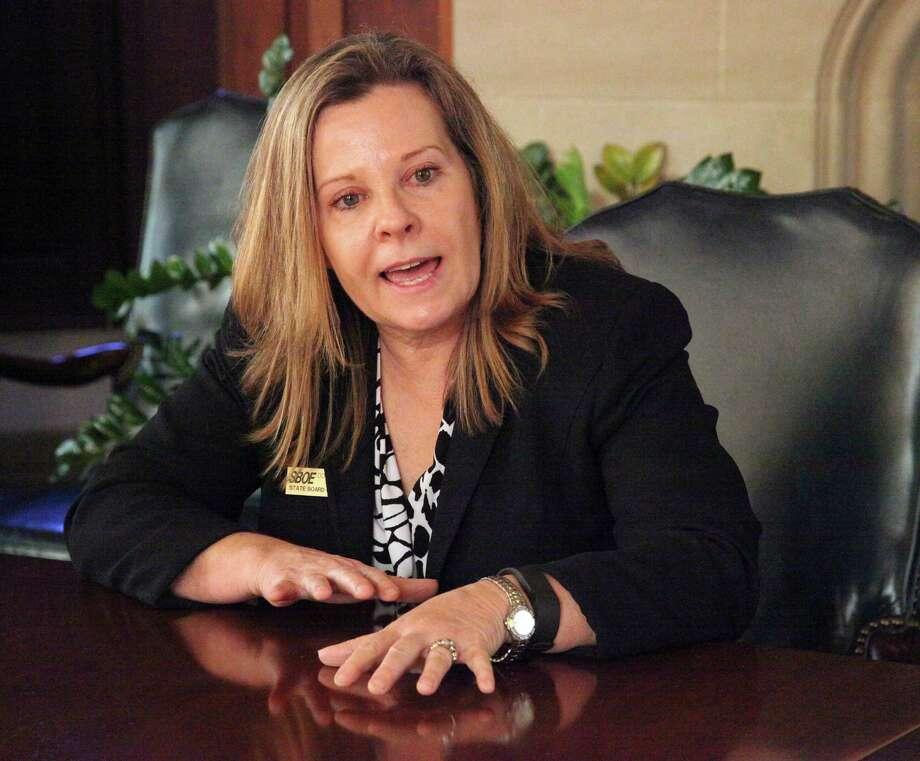 Donna Bahorich, chairwoman of the State Board of Education, organized  the forum. Photo: Juanito M Garza / San Antonio Express-News / San Antonio Express-News