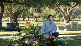 Cliff Molak visits the Sunset Memorial Park grave of his brother David, an Alamo Heights High School student who committed suicide Jan. 4 after being cyberbullied. A Facebook that Cliff wrote about his brother's death went viral.