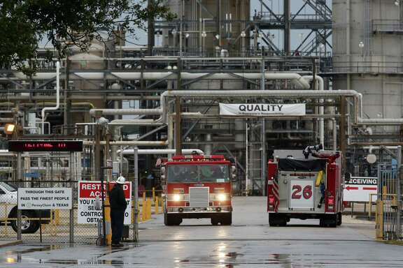 A tank holding an oil-based cleaning solution exploded Saturday afternoon at a PeroxyChem plant on Bay Area Boulevard in Pasadena. One person was killed and three others were injured.