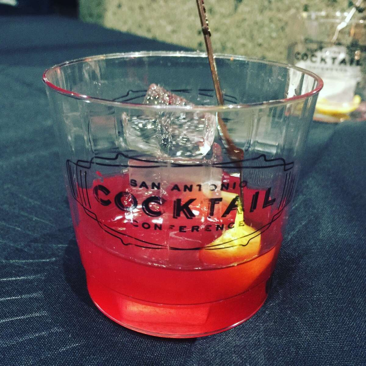 The Palm station at the Houston St. Stroll had Woodford Reserve bourbon, one of my faves. This was the Winter's Punch, with Woodford, pomegranate and lemon juice. Delish, but quite the booze bomb.