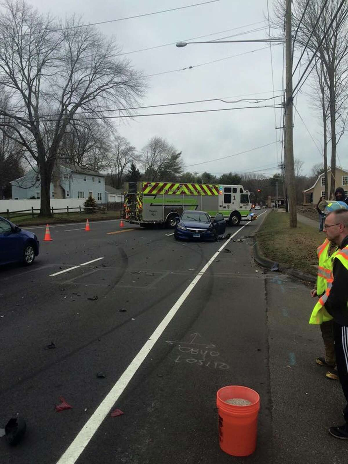 On Sunday, Trumbull Police and Fire crews responded to a 3-car accident on White Plains Road.