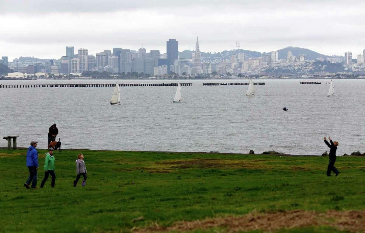 A file photo of Berkeley's Cesar Chavez Park along the marina.