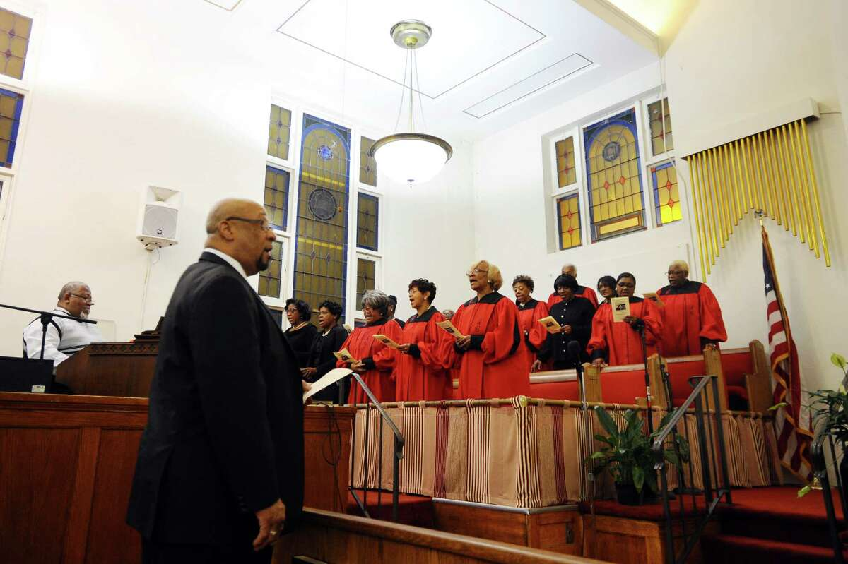 The Faith Tabernacle Choir sings during the annual Dr. Martin Luther King, Jr. birthday celebration held at the Faith Tabernacle Missionary Baptist Church on Jan. 17, 2016.