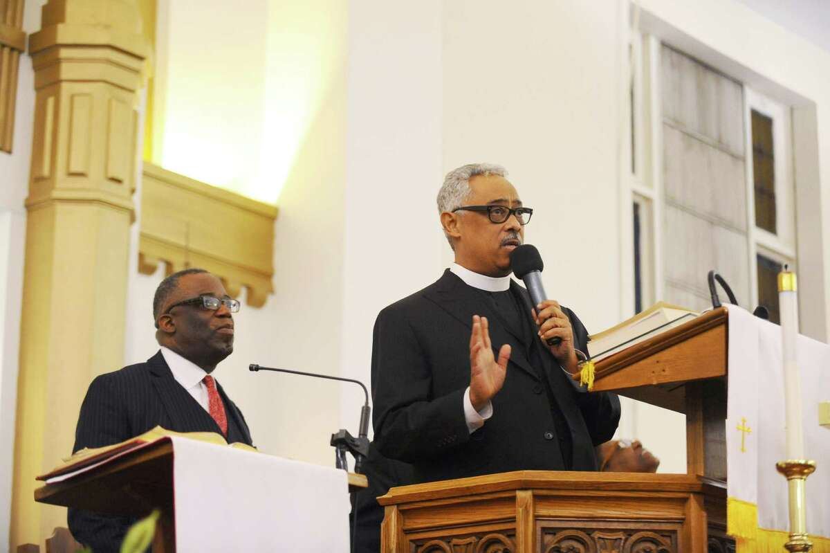 Dr. Frank Madison Reed III, Pastor of Bethel AME Church in Baltimore, gave the keynote address during the Faith Tabernacle Missionary Baptist Church's annual Dr. Martin Luther King, Jr. birthday commemoration held on Sunday evening, Jan. 17, 2016.