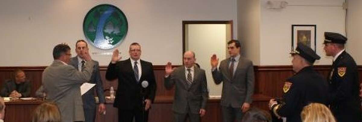North Greenbush police officers sworn in (Provided photo)