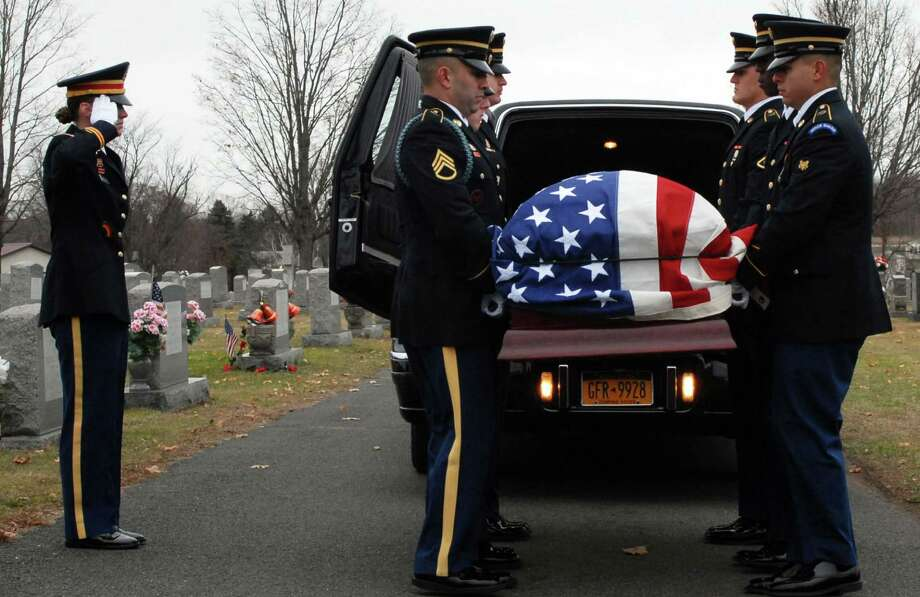National Guard officials say honor guard teams will have conducted 11,115 military funerals by the time the current year ends at midnight Monday. That's slightly down from the 11,170 funeral services conducted across the state last year.. (U.S. National Guard photo by Master Sgt. Raymond Drumsta/released) Photo: Master Sgt. Raymond Drumsta