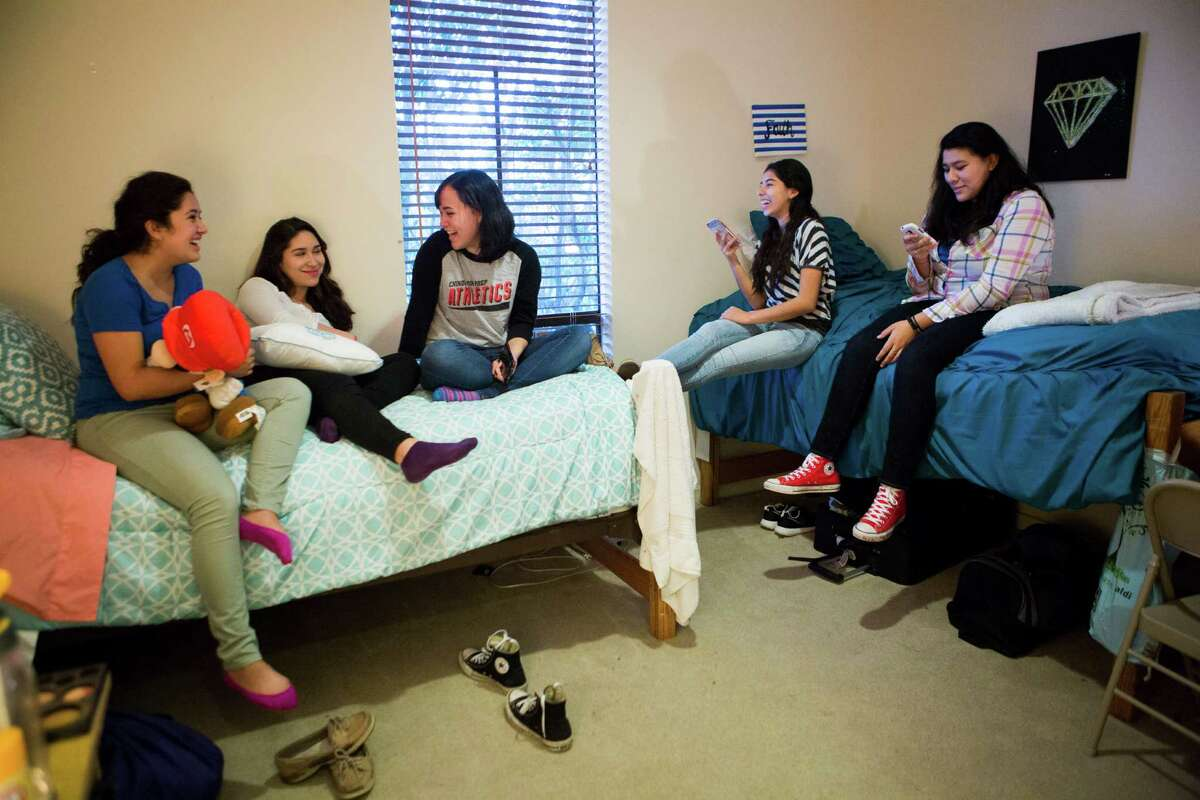 Chinquapin boarding school plans to add a separate dorm for female students like, from left to right, Maria Renteria, Angelica Rodriguez, Desiree Toutai, Analilia Rojas, and Esmeralda Correa, all 16 or 17.