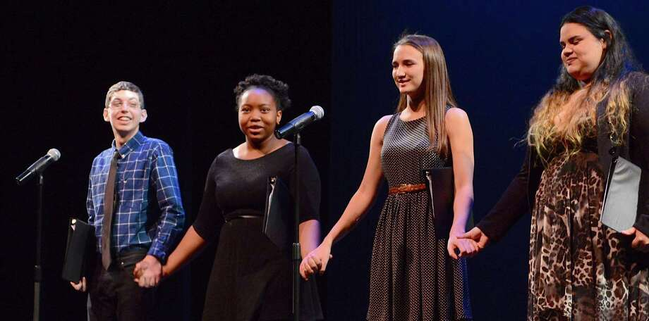 "Students from the Regional Center for the Arts in Trumbull gave  a reading of Martin Luther King Jr.'s ""I Have a Dream"" speech to the annual King tribute program, held Sunday at the Westport Country Playhouse. Photo: Jarret Liotta / For Hearst Connecticut Media / Westport News"