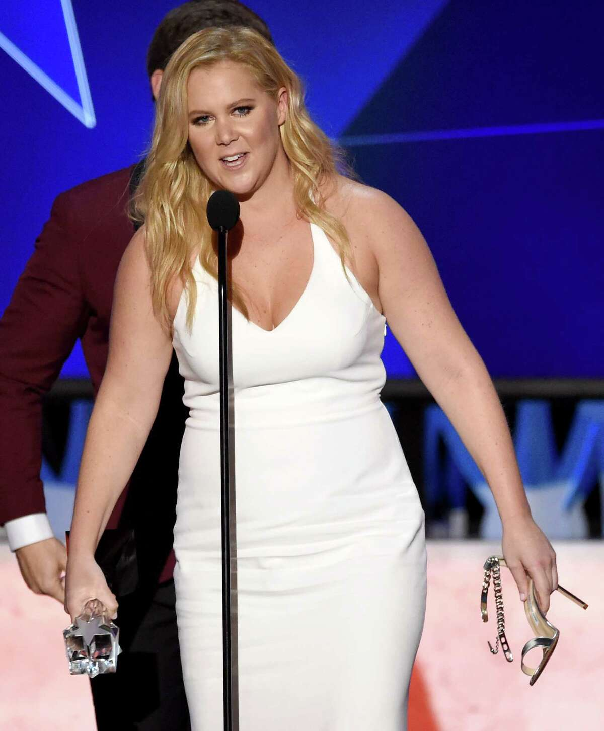 Amy Schumer accepts the award for best actress in a comedy for ?