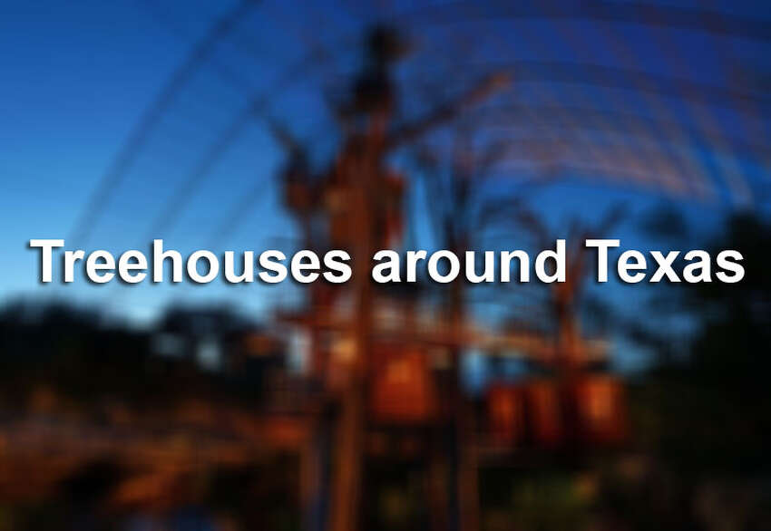 Take a look at the adult-sized treehouses around Texas where you can spend your next family vacation.