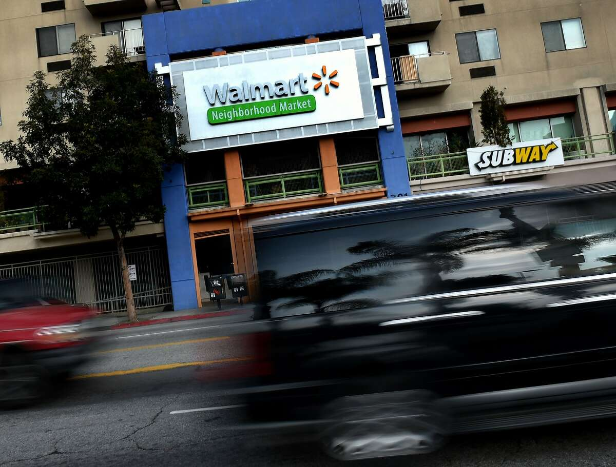 A Walmart store is seen on Jan. 16, 2016, in Chinatown, Los Angeles, one of seven Walmart stores in Southern California and 269 stores across the globe that will close down due to company restructuring.