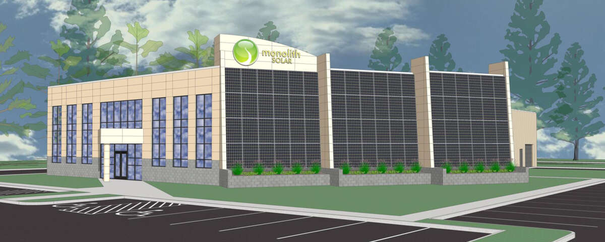 A rendering of Monolith Solar's new headquarters facility at the Vista Technology Campus in Slingerlands