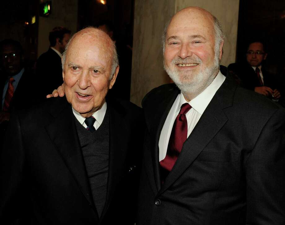 Acting runs in reporter Jake Reiner's family. His grandfater is Carl Reiner, left, and his dad is Rob Reiner. Photo: Kevin Winter, Staff / Getty Images North America