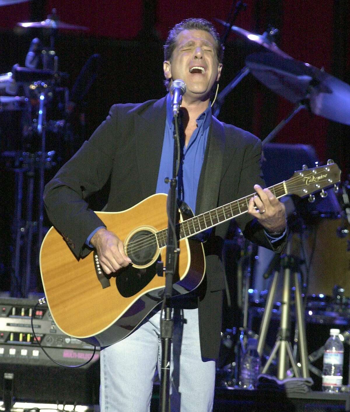 eagles093_jrs.jpg The Eagles in concert at the Chronicle Pavillion. 8/20/03 in Concord. Glenn Frey plays the guitar. JOHN STOREY / The Chronicle