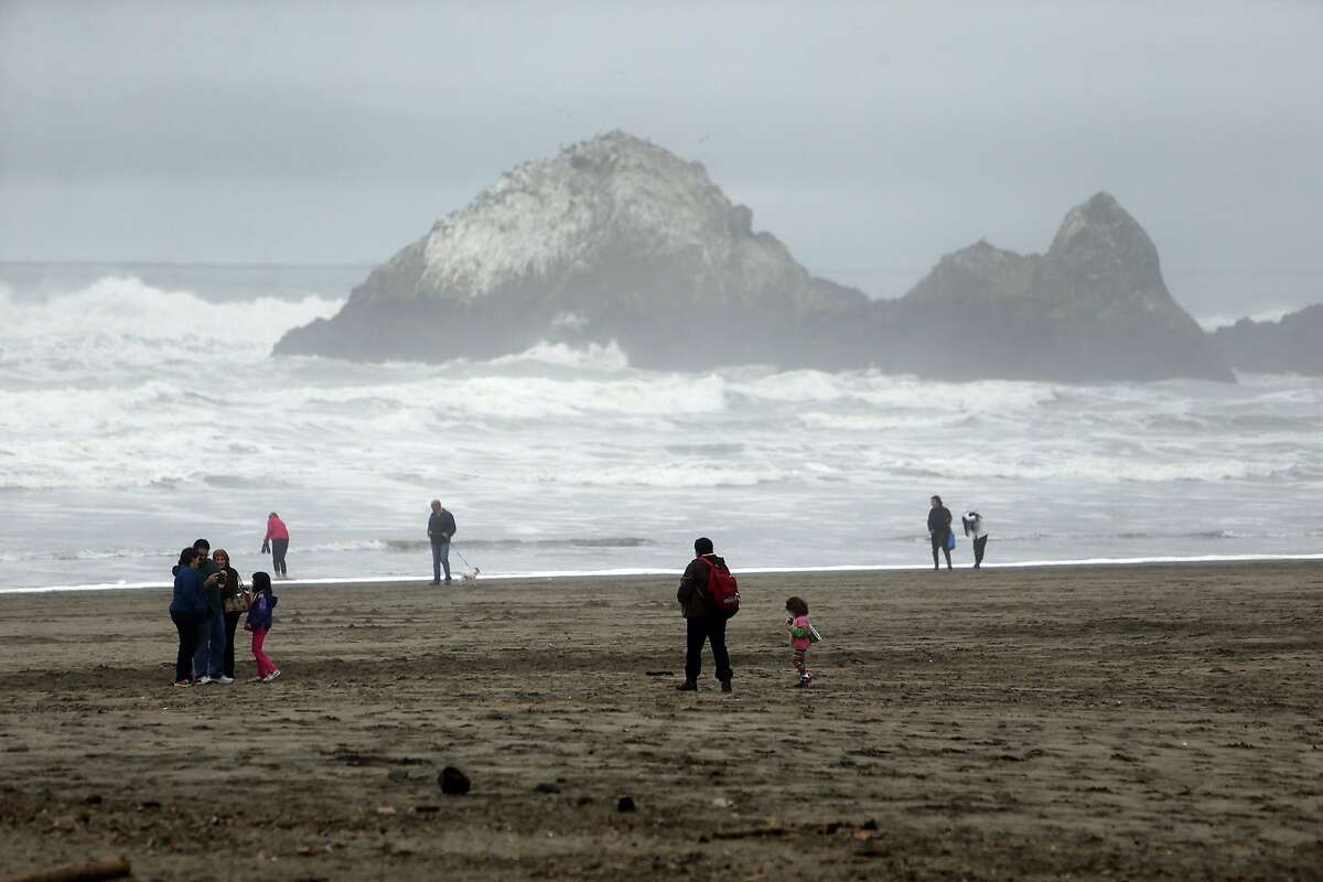 File photo of Ocean Beach in San Francisco on Monday, Jan. 18, 2016. Two teenage boys were swept out to sea Saturday afternoon at Ocean Beach, and rescuers said they called off the search after sunset.