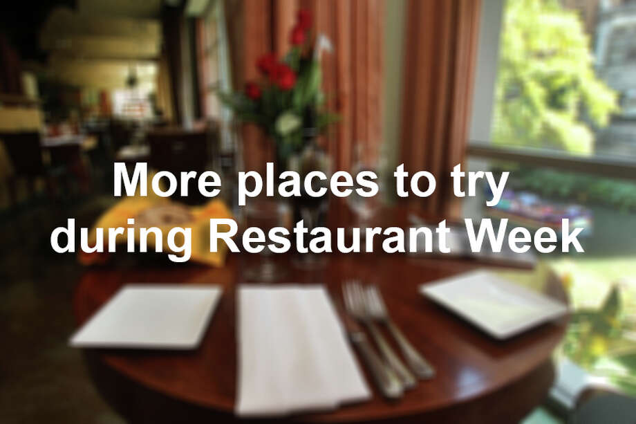 A number of places participate in Restaurant Week, year after year. Here's a looking at who's returning. Photo: John Davenport, San Antonio Express-News / San Antonio Express-News