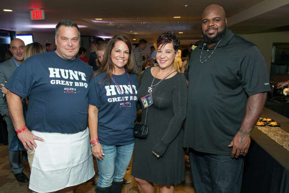 Ronnie and DeeDee Killen with Bianca and Vince Wilfork  at the Taste of the Texans.