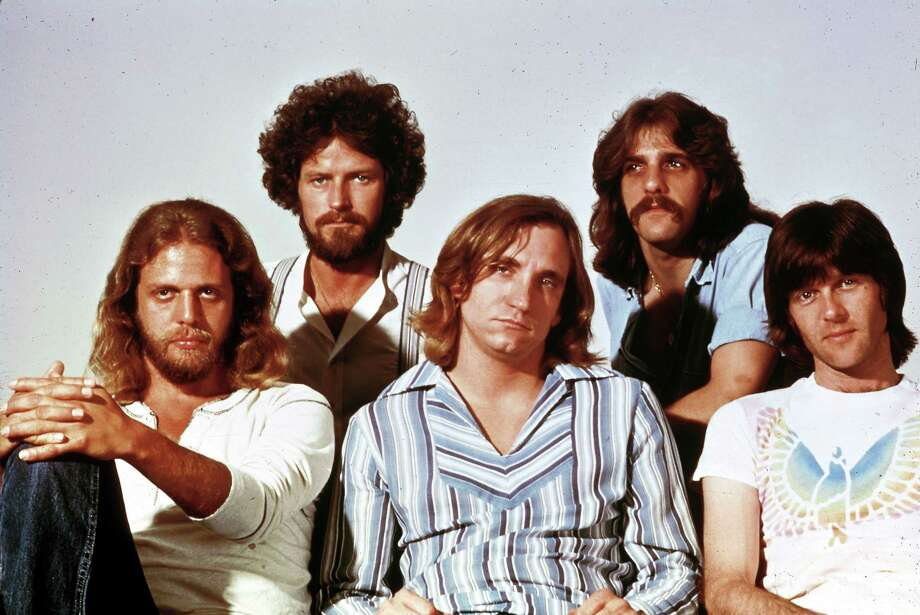 "The Eagles, circa ""Hotel California"": Don Felder, Don Henley, Joe Walsh, Glenn Frey, Randy Meisner. (For more vintage photos, scroll through the gallery.) Photo: File Photo. RB, Redferns / Redferns"